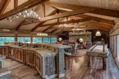 BuckBunk log timber frame post & beam hybrid Centennial Wyoming custom home builder (1) - Deerwood Log Homes - Custom Built Homes and Cabins - Laramie, Wyoming and The Centennial Valley - deer-wood.com - (307) 742-6554