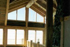 Ham log timber frame post & beam hybrid Centennial Wyoming custom handcrafted home builder (6) - Deerwood Log Homes - Custom Built Homes and Cabins - Laramie, Wyoming and The Centennial Valley - deer-wood.com - (307) 742-6554