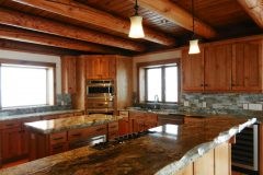 Joit Swedish cope log Centennial Wyoming custom home builder handcrafted details (10) - Deerwood Log Homes - Custom Built Homes and Cabins - Laramie, Wyoming and The Centennial Valley - deer-wood.com - (307) 742-6554