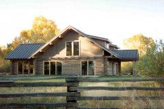 McGil Swedish cope log Laramie Wyoming custom home builder handcrafted details (2) - Deerwood Log Homes - Custom Built Homes and Cabins - Laramie, Wyoming and The Centennial Valley - deer-wood.com - (307) 742-6554
