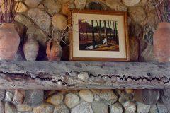 Lets hand hewn log timber frame post & beam hybrid Centennial Wyoming custom home builder (20) - Deerwood Log Homes - Custom Built Homes and Cabins - Laramie, Wyoming and The Centennial Valley - deer-wood.com - (307) 742-6554