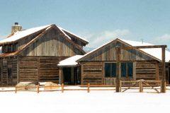 Lets hand hewn log timber frame post & beam hybrid Centennial Wyoming custom home builder (6) - Deerwood Log Homes - Custom Built Homes and Cabins - Laramie, Wyoming and The Centennial Valley - deer-wood.com - (307) 742-6554