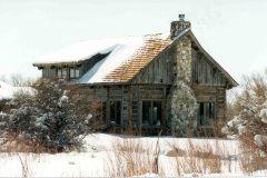 Lets hand hewn log timber frame post & beam hybrid Centennial Wyoming custom home builder (7) - Deerwood Log Homes - Custom Built Homes and Cabins - Laramie, Wyoming and The Centennial Valley - deer-wood.com - (307) 742-6554
