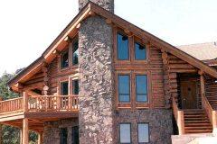 Kretz chink style log Estes Park Colorado custom home builder handcrafted details (1) - Deerwood Log Homes - Custom Built Homes and Cabins - Laramie, Wyoming and The Centennial Valley - deer-wood.com - (307) 742-6554